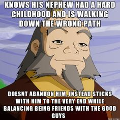 You go, Iroh.