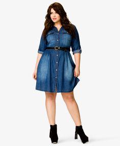 Denim Shirt Dress | FOREVER21 PLUS