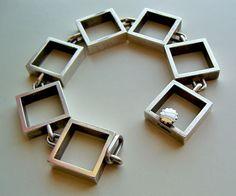Hans Hansen Sterling Silver Modernist Bracelet Denmark