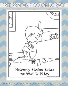 he hears me when i pray free coloring page mormon mommy printables primary 3 lesson - Coloring Pages Primary Lessons