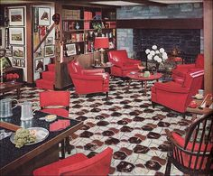 Decor The worst decor the year you were born We think red vinyl should be limited to retro diner booths. - We think red vinyl should be limited to retro diner booths. 1950s Decor, Retro Home Decor, Vintage Decor, Vintage Style, Vintage Colors, Retro Style, Vintage Interior Design, Vintage Interiors, Interior Colors