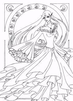 Funny: Favorable Naro Art Nouveau Line Art By Anarielhime Daab ...