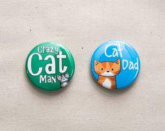 2 Cat badges for men