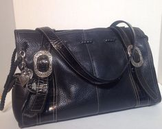 Brighton Black Braided Handbag Purse #Brighton #ShoulderBag