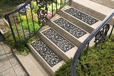 Set of 4 Butterfly Pattern Stair Treads