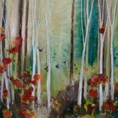 Expanding Into Grace, 40 x 40, Sarah Goodnough Art