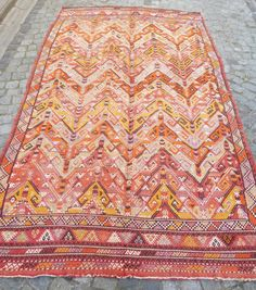 Turkish Kilim Cicim rug Shabby chic Fall Decor Vintage Anatolian Kilim Embroidery Carpet FAST DELIVERY Bohemian Decor 265x164cm Rustic Decor...