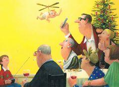 Vrolijk Kerstfeest en Gelukkig Nieuwjaar. Postcard