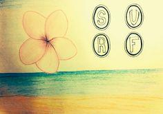 Dibujo playa, mar, flor hawaiana, surf Patch Hawaii, Surfing, Patches, Art, Flower, Beach, Dibujo, Art Background, Kunst