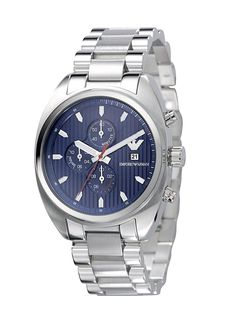 Luxury Watch Boutique - Emporio Armani Mens Sportivo Stainless Blue Chronograph Watch AR5912, £260.00 (http://www.luxurywatchboutique.com/emporio-armani-mens-sportivo-stainless-blue-chronograph-watch-ar5912/)