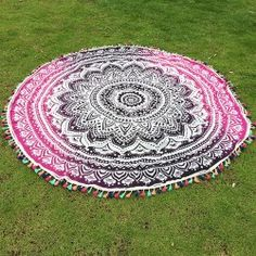 SHARE & Get it FREE | Ethnic Colorful Tassel Lotus Flower Totem Ombre Yoga Mat Gypsy Cotton Tablecloth Round Beach TowelFor Fashion Lovers only:80,000+ Items • New Arrivals Daily • Affordable Casual to Chic for Every Occasion Join Sammydress: Get YOUR $50 NOW!