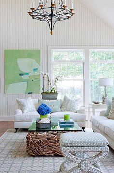 Beach house living room. www.Blackburninve... #beachcondo #floridawaterfront #redington #madeira #indianrocksbeach #indianshores #treasureisland #stpetebeach