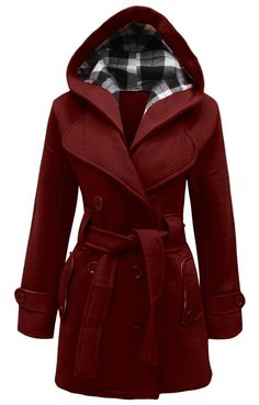 Candy Floss Ladies Hooded Belted Fleece Jacket Womens Coat TOP Plus Sizes 8 to 26 Faux Fur Parka, Plus Size Winter, Belted Coat, Mode Hijab, Belts For Women, Magenta, Hooded Jacket, Rain Coat Hooded, Hooded Winter Coat