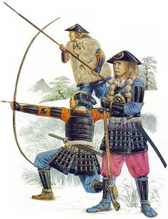 Ashigarus c. 1576 - 1615 - foot-soldiers who were employed by the samurai class of feudal Japan