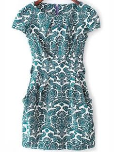 Love this dress! The style, pattern and colors are perfect!