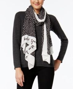 kate spade new york Spot Oblong Scarf - Black