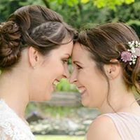 bridesmaid and bride, simple hair finished with fresh flowers by flowers & fringes Hair And Makeup Artist, Hair Makeup, Easy Hairstyles, Wedding Hairstyles, Fringes, Fresh Flowers, Wedding Makeup, Hairdresser, Bridal Hair