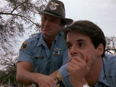 """Alan Autry as Bubba Skinner. Christian Le Blanc as Junior Abernathy. - """"In the heat of the night."""""""