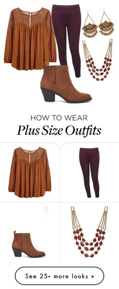 """Plus Size"" by xcayanna on Polyvore featuring M&Co, H&M, Forever 21, Lucky Brand and country"