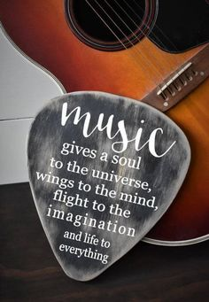 49881c327bff Items similar to Guitar Pick Sign - Guitar Sign - Musician Gift - Music  Teacher - Music Decor - Gift for Music Teacher - Music Quote - Wood Decor -  Rustic ...