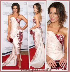 Kate Beckinsale de Marchesa en el evento 2014 Los Angeles Dinner: What You Do Matters organizado por el United States Holocaust Memorial Museum