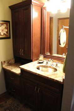 fabuwood elite merlot glaze vanity cabinet bathroom cabinetry