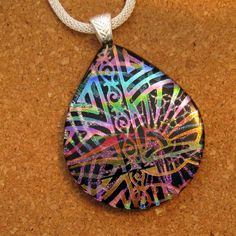 Dichroic Glass Pendant  Dichroic Jewelry  by GlassMystique on Etsy