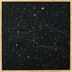 Isa Carrillo, Rising Constellation  | Constelación ancient  (3 of 3), 2015, Wood, paint, color pencil, 60 x 60 cm. Photo Credit: Nancy Sepulveda.