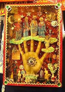 Mexican folk art shrine RESEARCH ''SACRED HEART SHRINES''