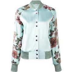 La Perla Maps in Bloom bomber jacket (€1.085) ❤ liked on Polyvore featuring outerwear, jackets, coats, coats & jackets, green, style bomber jacket, flight jackets, bomber style jacket, green bomber jacket and la perla