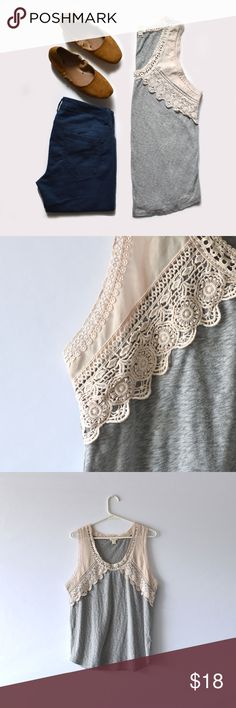 J.Crew Lace Detail Tank J.Crew | size Large | the detail adds some soft elegance to this classic tank J. Crew Tops Tank Tops