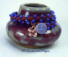 Purple Plum Wine Macrame Bracelet  by RoEnchantedDesigns on Etsy, $15.00