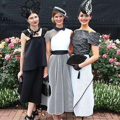 Top 3 on Derby Day. Exciting for Charlotte to place 2nd in Ali Moor dress and headpiece #myerfotf