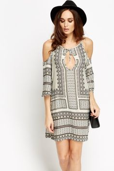 Cold Sleeves Grey Shift Dress