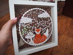 My very own hand-drawn fox paper cut Paper Cutting, Hand Drawn, How To Draw Hands, Fox, Frame, Home Decor, Picture Frame, Decoration Home, Room Decor