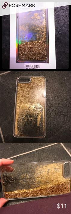 iPhone 7 Plus glitter hard case I used this case for one week only. Very fun case.  Glitter moves within the case as it is tilted or turned.  No cracks or defects in case. Some very minor surface scratching just from being on my desk; only visible when angled specifically in certain lighting.  In original packaging. LMNT Accessories Phone Cases