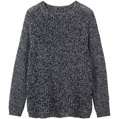 Toast Wool Marl Pullover ($80) ❤ liked on Polyvore featuring tops, sweaters, shirts, jumpers, darkest navy, navy blue shirt, blue shirt, shirt sweater, travel shirts and pullover shirt