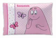 Barbapapa kussen vlinders. Verkrijgbaar bij www.vanallesvan.nl #barbapapa #kussen #pillow #kinderkamer #roze #vlinders #pink #kinderen #kids #peuter #baby #kleuter #dreumes #cadeau #meisjes #girls #meiden #cute #babyroom