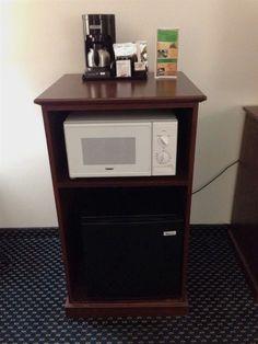 In Room Microwave Amp Refrigerator Cabinet Organization
