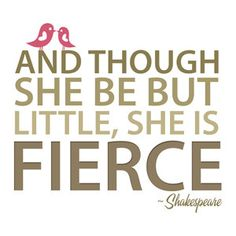 Shakespeare's Fierce Quote- I really like this!!