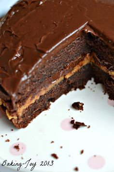 Peanut Butter Chocolate Fudge Cake want to try this. Looks yummy Chocolate Peanut Butter Fudge, Peanut Butter Desserts, Chocolate Desserts, Chocolate Cake, Chocolate Chips, White Chocolate, Just Desserts, Delicious Desserts, Yummy Food
