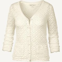 Carrie Crochet Lace Cardigan at Fat Face
