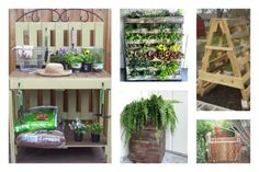 garden racks with pallets