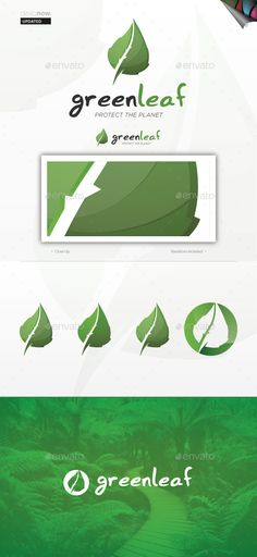 Green Leaf Logo — Vector EPS #flora #leaf • Available here → https://graphicriver.net/item/green-leaf-logo/1768984?ref=pxcr