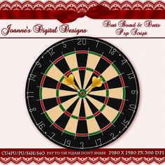 Dart Board n Darts PspScript $6.00 - 60% off all this month! :) Also available as a Photoshop layered template Check out my new $50 Unlimited Useage License too! http://www.joannes-digital-designs.com/dart-board-n-darts-pspscript-p-2546.html