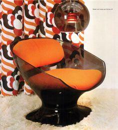 More shag carpet! Plus Burnt Orange furnishings.