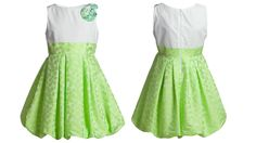 Luxurious green taffeta sleeveless dress from I Pinco Pallino spring summer 2013 collection with a stunning bubble gown and a romantic flower on the left shoulder. #green #ipincopallino #SS13 #spring #summer #springsummer2013 #children #kids #childrenwear #kidswear #girls #boys