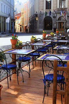 Street cafe in Tallinn, Estonia