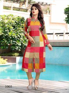 Specification : NAME :Rashika Vol-2 TOTAL DESIGN :5 PER PIECE RATE : 420/- FULL CATALOG RATE : 2100/- WEIGHT :2 SIZE :L | XL | XXL | Type :Long Kurtis MOQ :Minimum 5 Pcs. Fabric Description :100% Rayon 14 kg Collar Kurti Design, Kurti Sleeves Design, Kurta Neck Design, Sleeves Designs For Dresses, Dress Neck Designs, Blouse Designs, Salwar Designs, Kurti Designs Party Wear, Indian Gowns Dresses