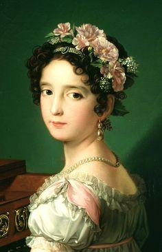 Manuela González Velázquez tocando el piano, by Zacarías González Velázquez, 1820